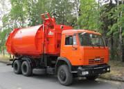 Мусоровоз с боковой загрузкой КО-449-02 на шасси КАМАЗ-65115