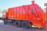 Мусоровоз с задней загрузкой КО-427-80 на шасси КАМАЗ-65115
