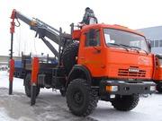 КАМАЗ 43502 4х4 с буровой установкой JUN JIN SA-040C